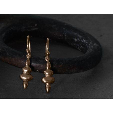 Demeter vermeil earrings by Emmanuelle Zysman