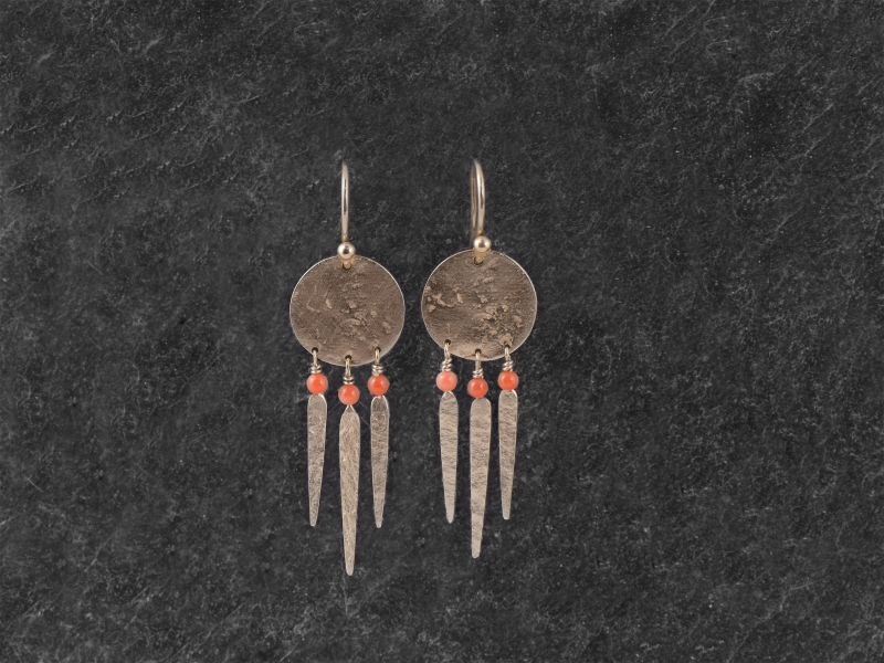 India Song baby coral perls vermeil earrings by Emmanuelle Zysman