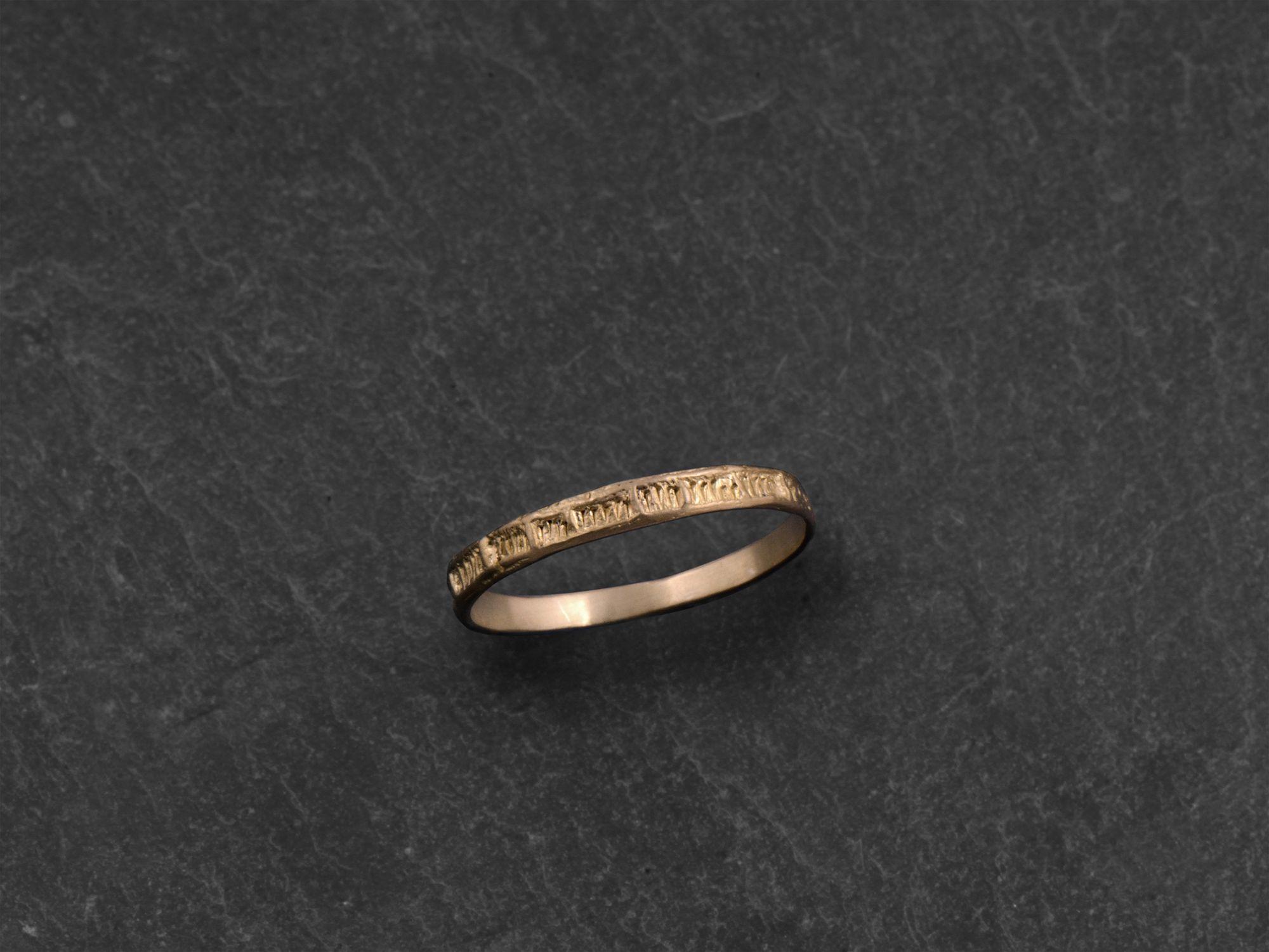 Minos vermeil ring by Emmanuelle Zysman