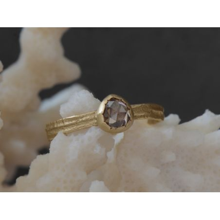 Sitia Champagne Rosecut Yellow Gold Ring by Emmanuelle Zysman