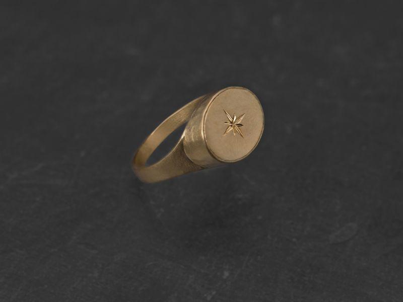 Leila vermeil signet ring by Emmanuelle Zysman