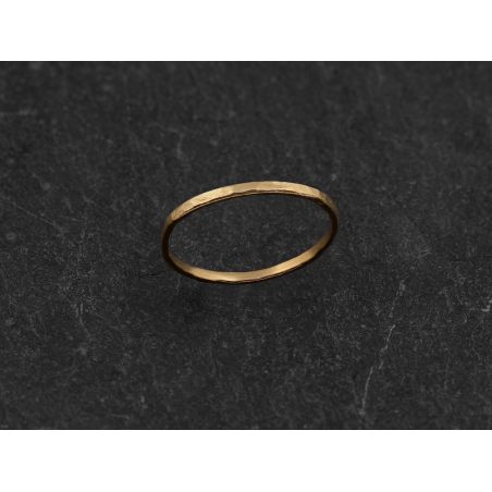 Mon Cheri vermeil hammered thin ring by Emmanuelle Zysman