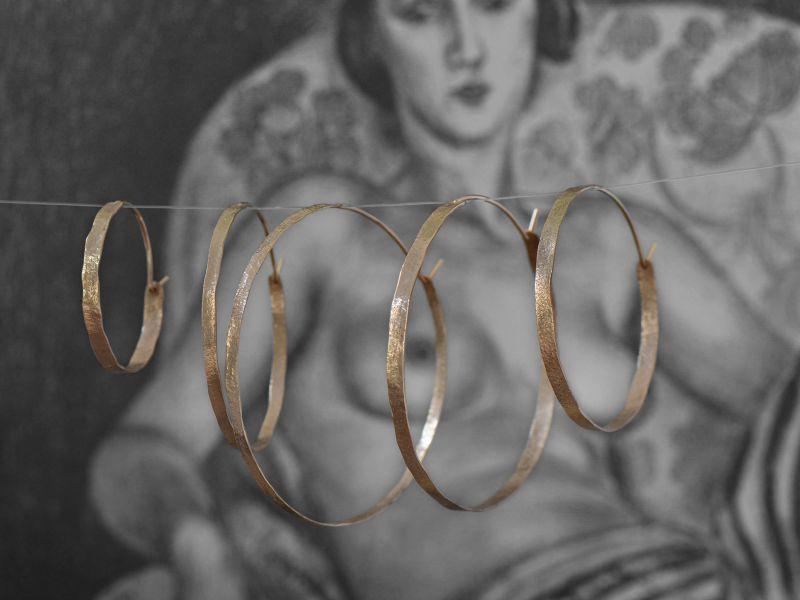 Yellow gold Shan Hoop Earrings by Emmanuelle Zysman