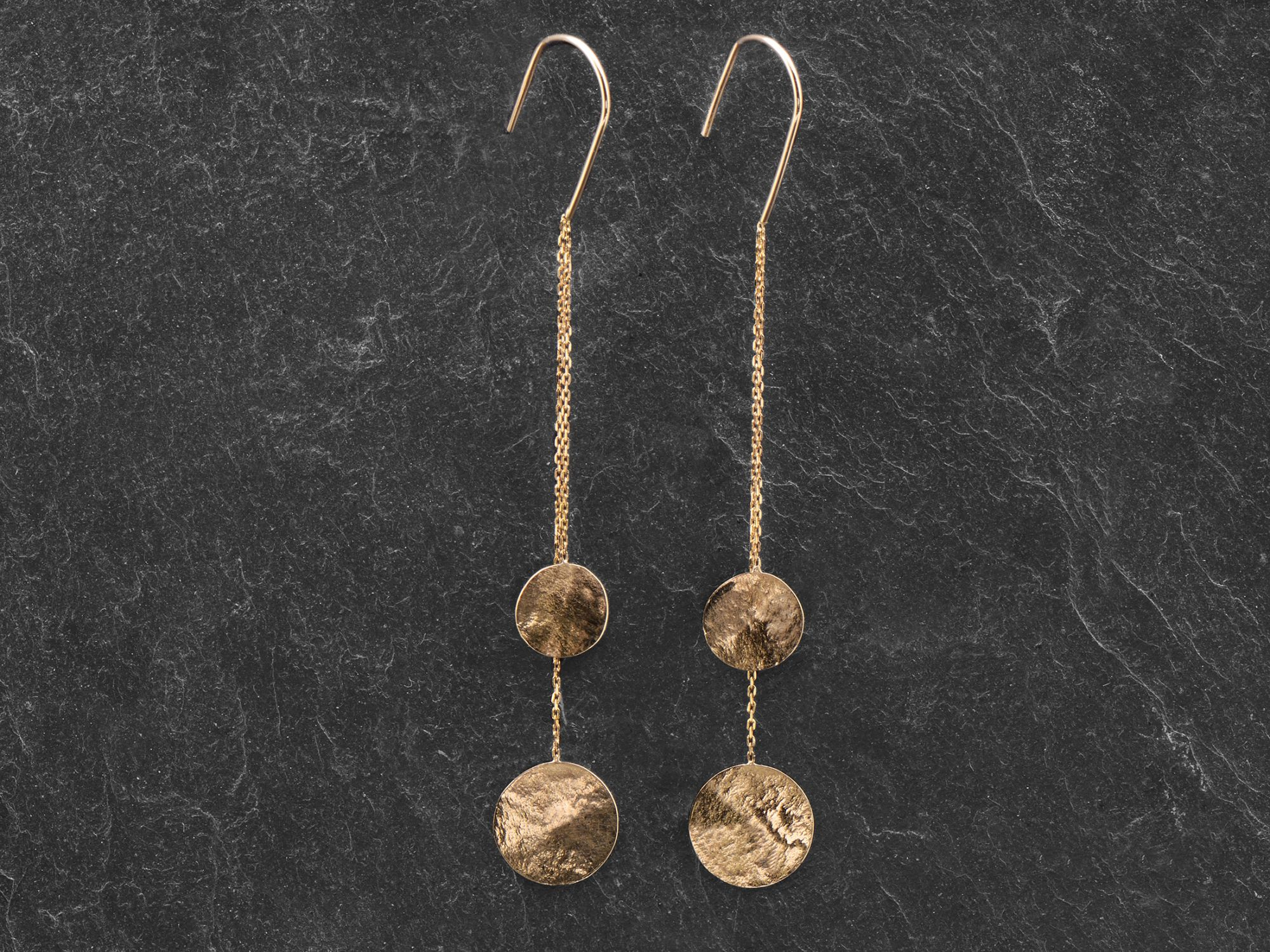 Daiquiri Sequins yellow gold earrings by Emmanuelle Zysman
