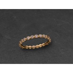 Honey fullmoon yellow gold ring by Emmanuelle Zysman