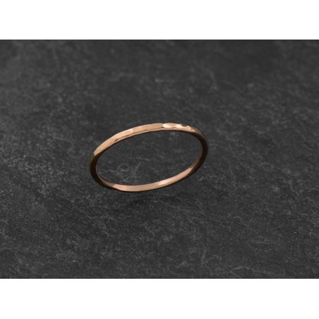 Mon Cheri thin and rounded pink gold ring by Emmanuelle Zysman