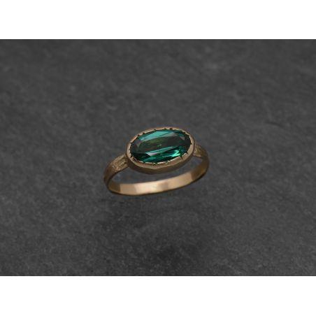 Mélisande 'navette' ring by Emmanuelle Zysman