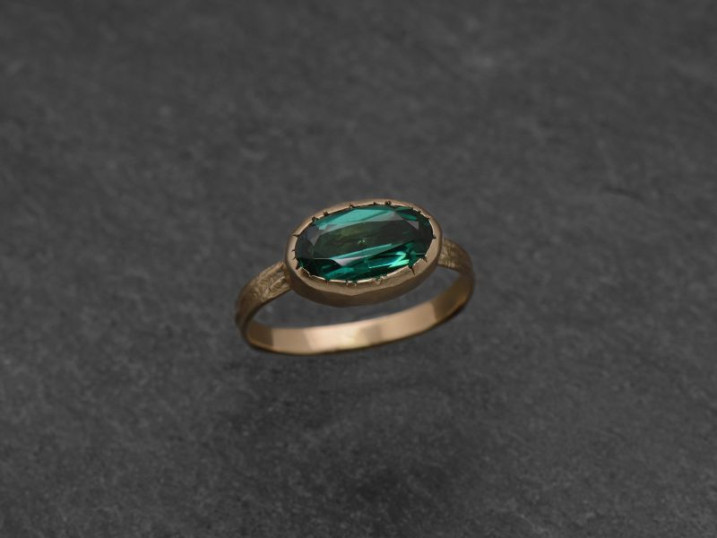 Ana Sitia 'navette' ring by Emmanuelle Zysman