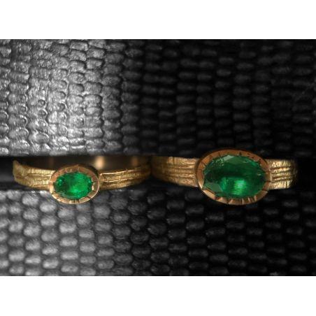 Ana Sitia emerald rings by Emmanuelle Zysman