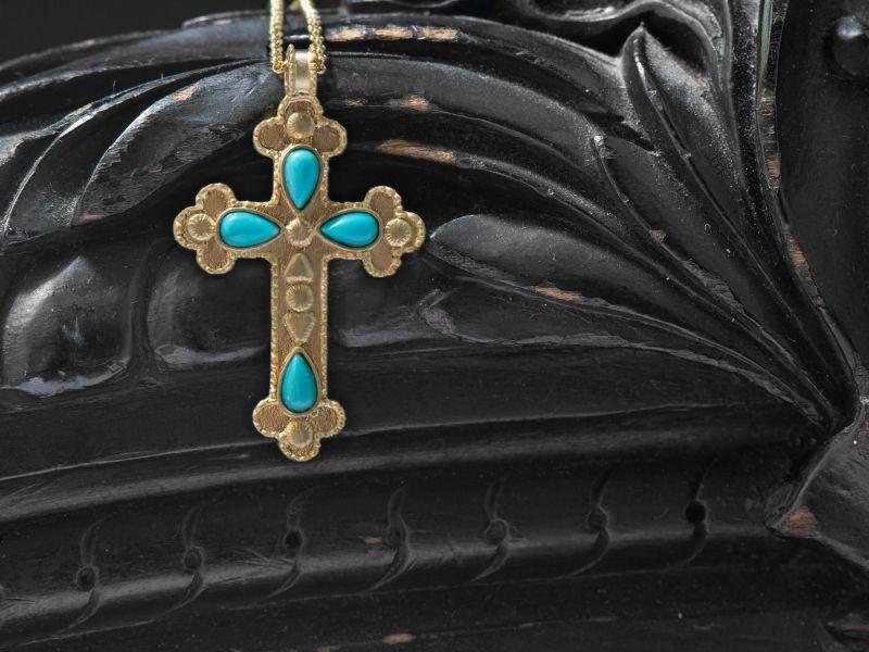Collier Ava vermeil turquoise par Emmanuelle Zysman