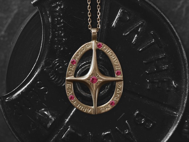 Amo Quod ruby necklace