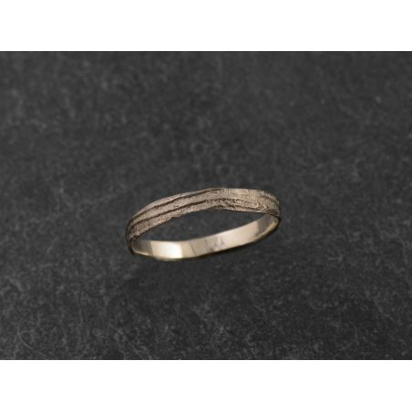 Sitia white gold ring for men by Emmanuelle Zysman