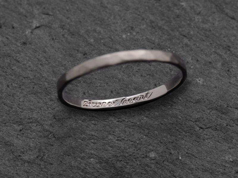 Engraving on engagement ring