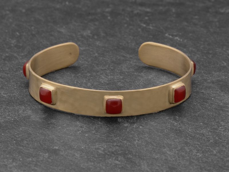 Bracelet FRIDA vermeil cornaline par Emmanuelle Zysman