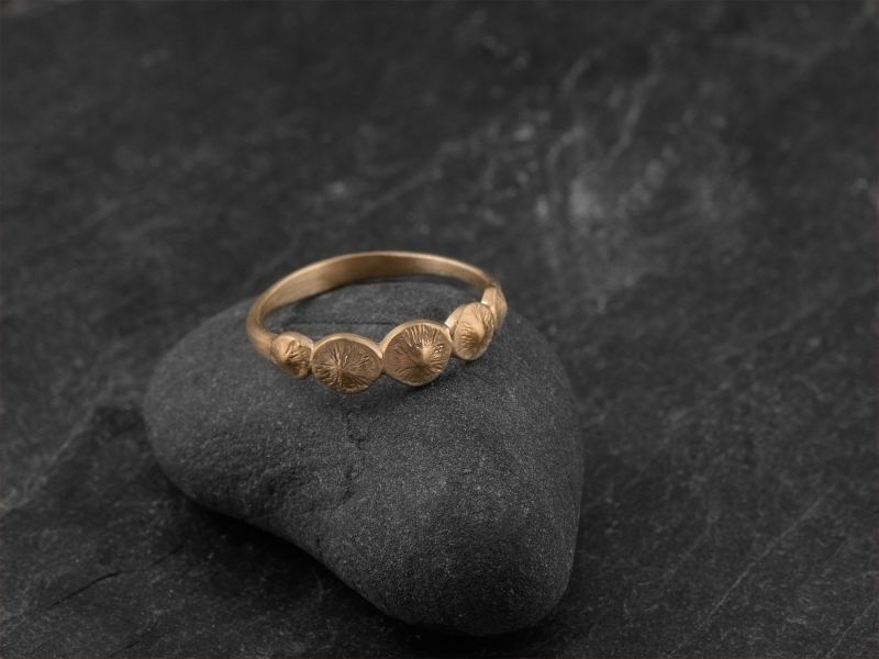 Seeds vermeil ring by Emmanuelle Zysman