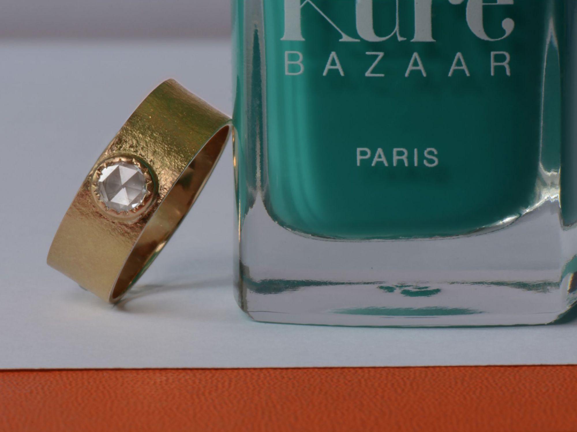 Bague Yseult or jaune diamant par Emmanuelle Zysman