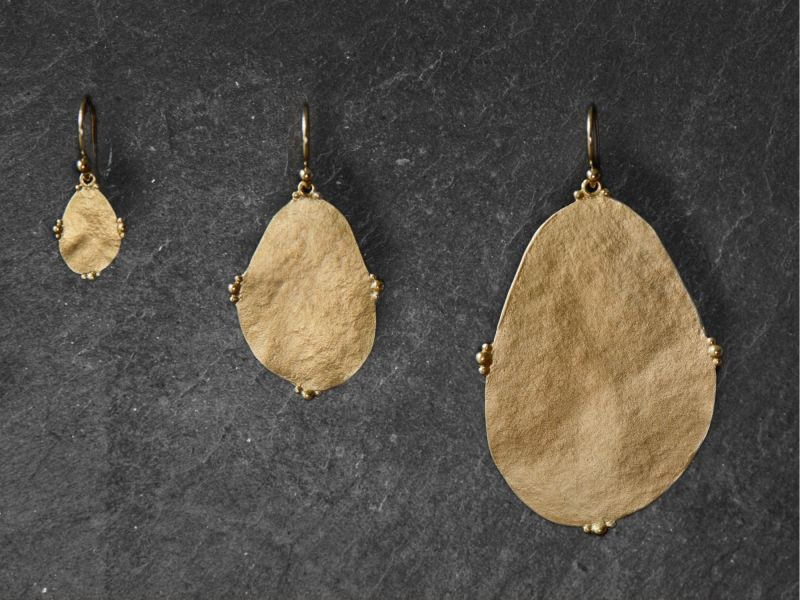 Bao Vermeil Earrings by Emmanuelle Zysman