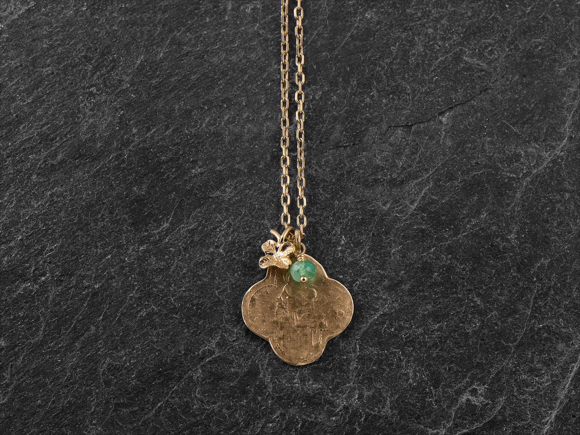 Saint Antoine vermeil necklace by Emmanuelle Zysman