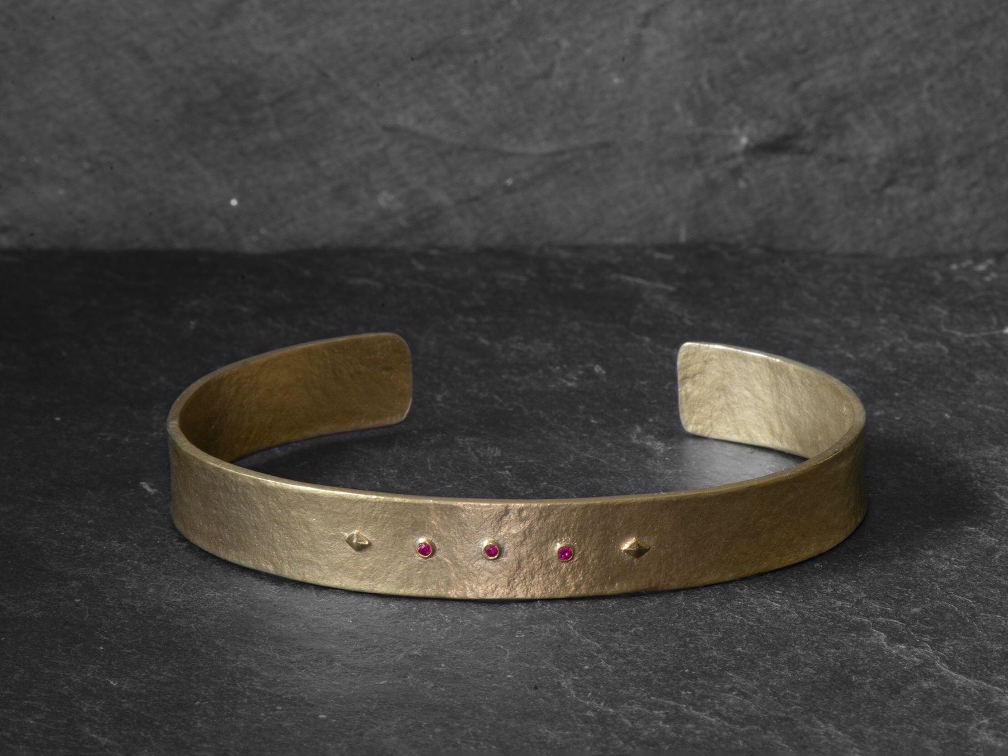 Vermeil rubis Sigrid bracelet by Emmanuelle Zysman