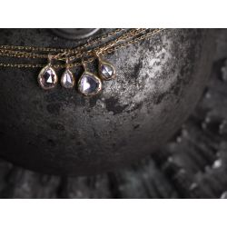 Twinkle rosecut diamond necklaces by Emmanuelle Zysman