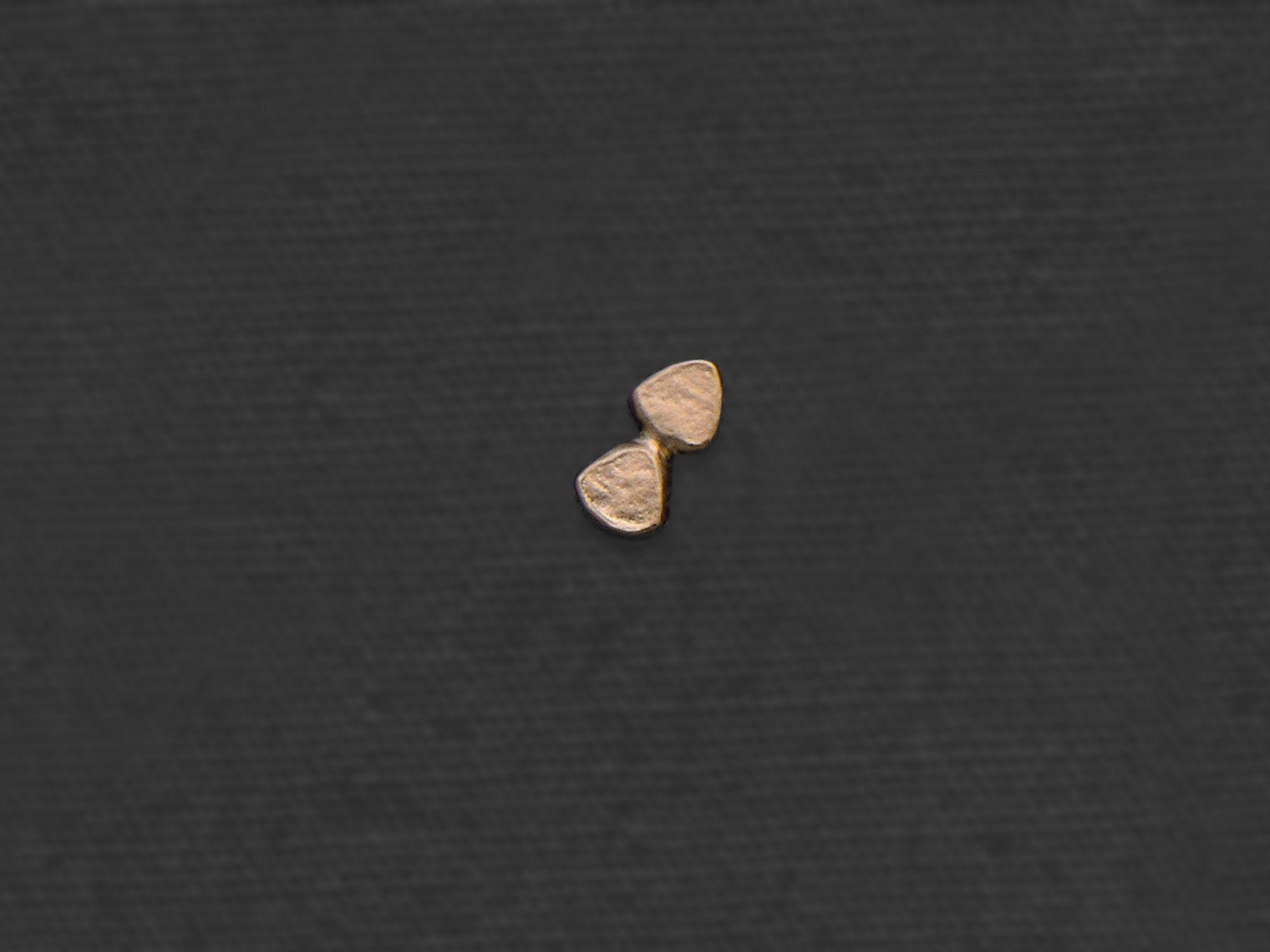 Double Drop mini stud earring by Emmanuelle Zysman