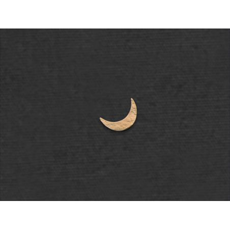 Moon mini stud earring by Emmanuelle Zysman