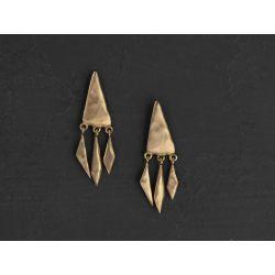 Stromboli vermeil earrings by Emmanuelle Zysman