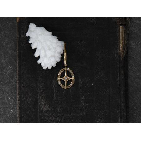 Amo Quod diamond gold hoop earring by Emmanuelle Zysman