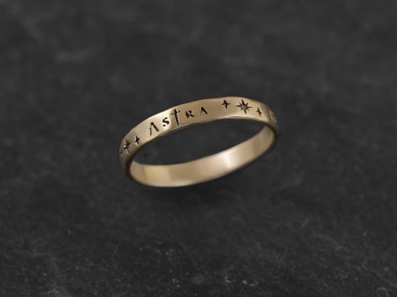 Ad Astra vermeil ring