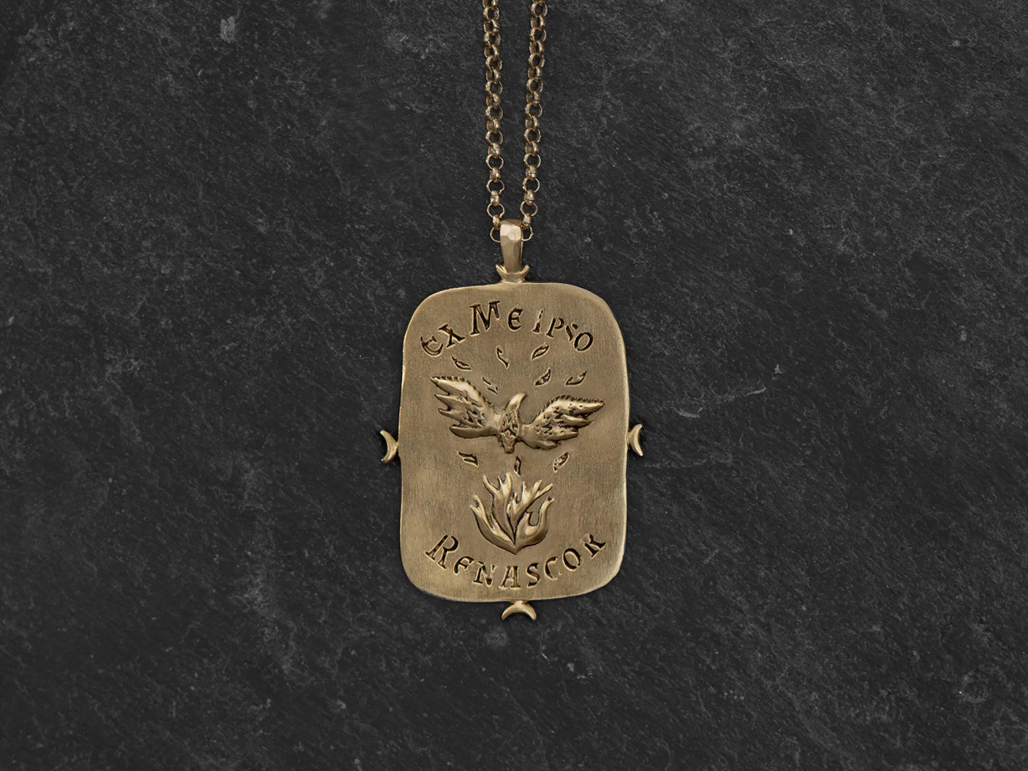Phenix vermeil necklace by Emmanuelle Zysman