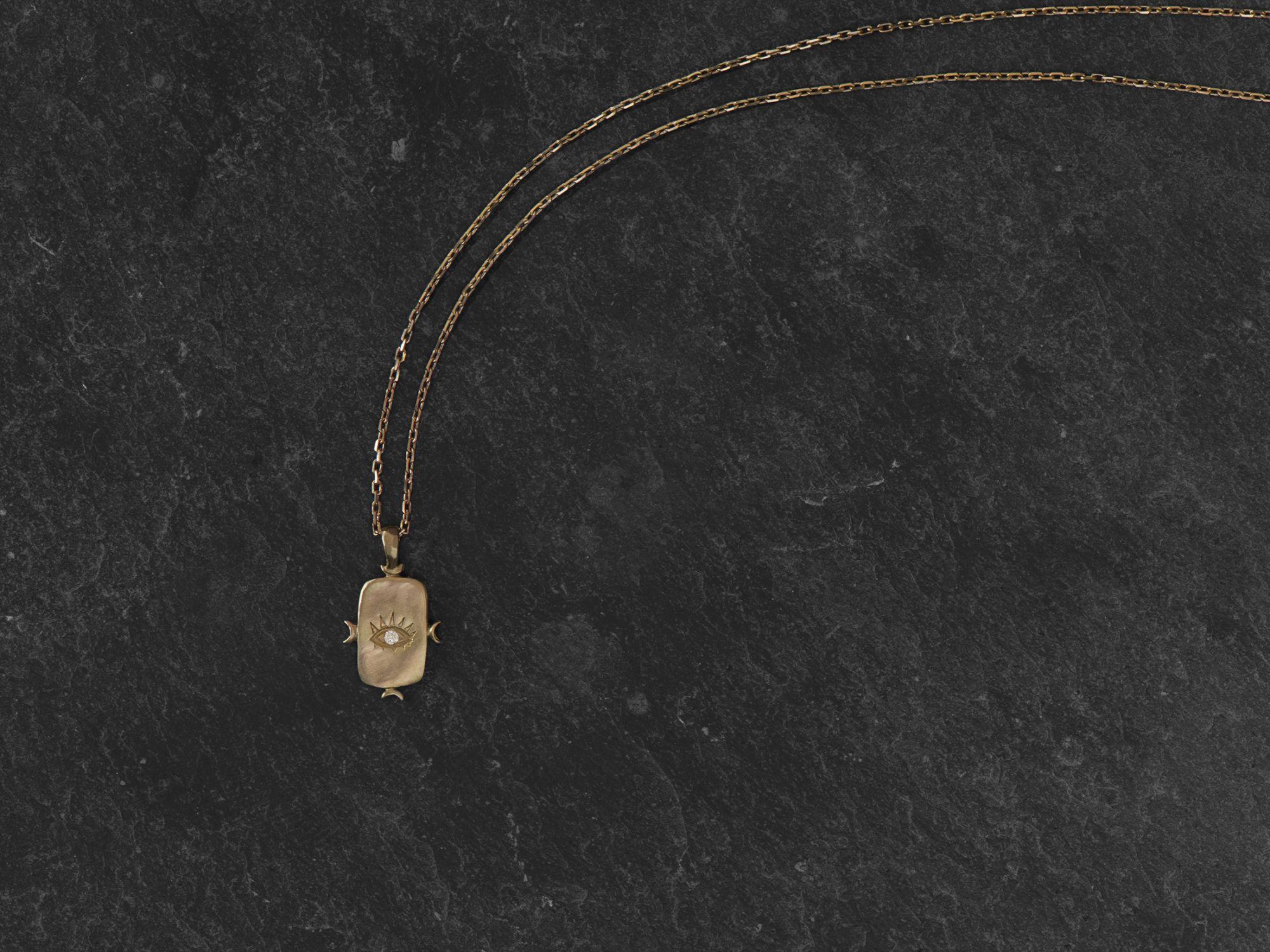 Viviane vermeil necklace by Emmanuelle Zysman