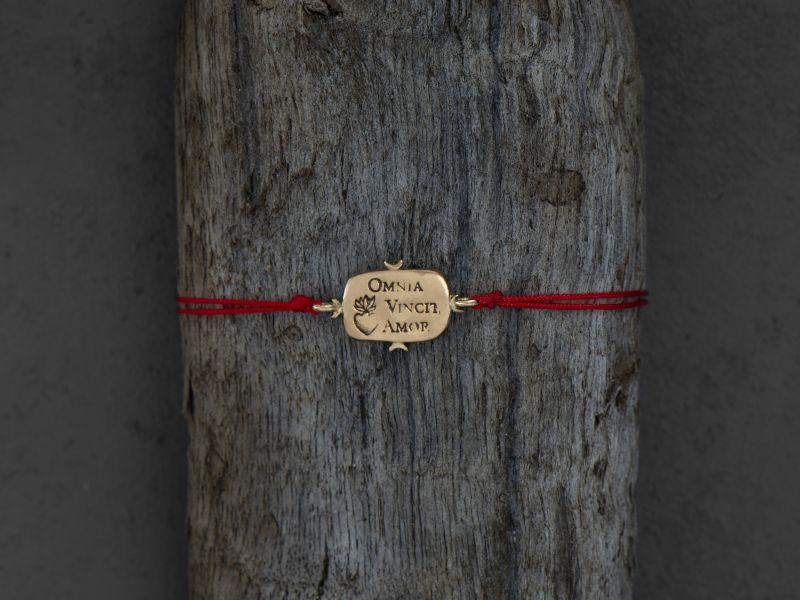 Omnia Vincit Vermeil bracelet by Emmanuelle Zysman