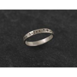 Ad Astra white gold ring for men by Emmanuelle Zysman