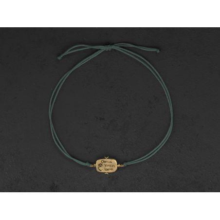 Bracelet Omnia Vincit Vermeil par Emmanuelle Zysman