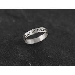 Amo Quod silver ring for men by Emmanuelle Zysman