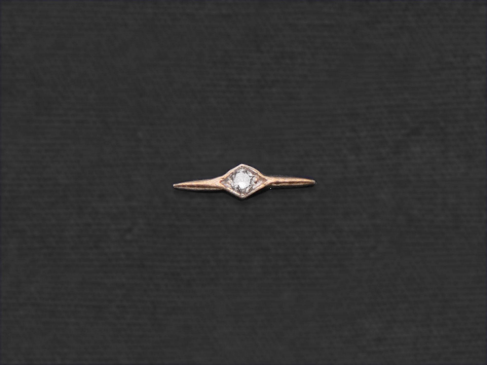 Comet diamond mini stud earring by Emmanuelle Zysman