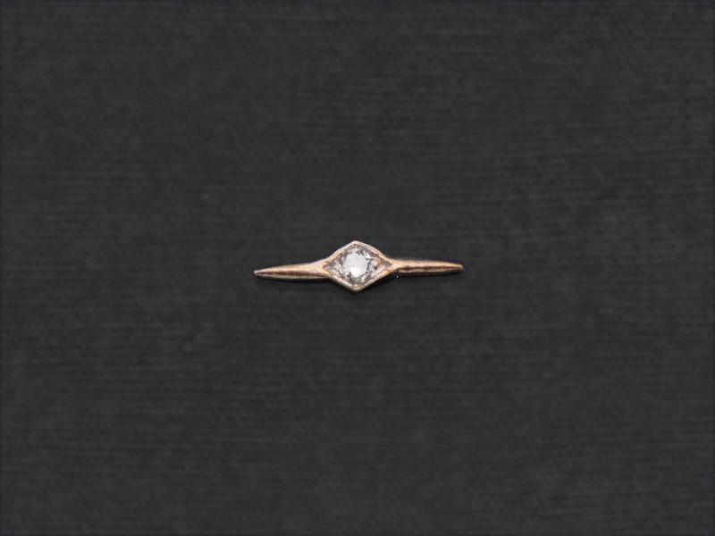 Mini-puce Comète diamant or jaune par Emmanuelle Zysman