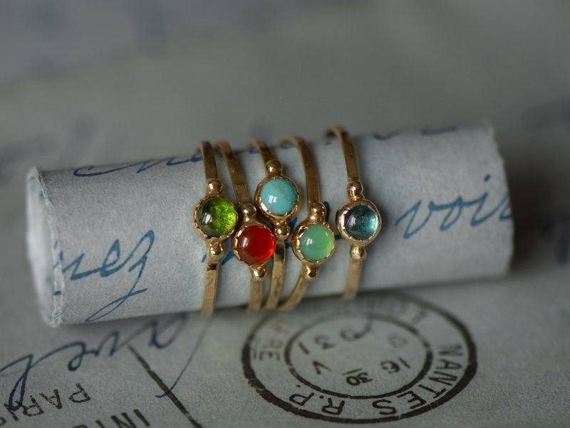 Baby Yellow gold rings by Emmanuelle Zysman