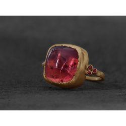 Pink Tourmaline Ruby Queen ring by Emmanuelle Zysman