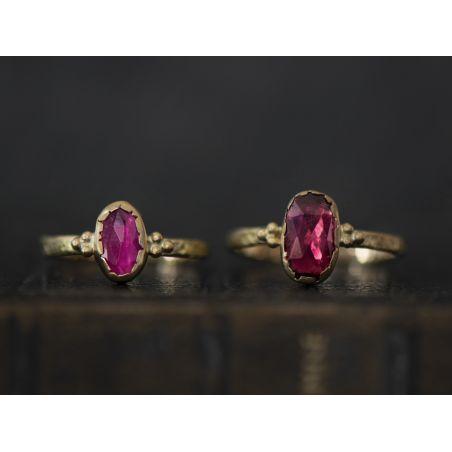 Romy pink oval tourmaline ring by Emmanuelle Zysman
