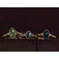 Romy green tourmaline ring by Emmanuelle Zysman
