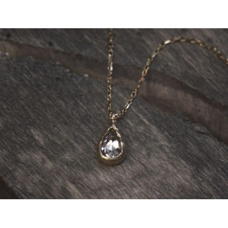 Twinkle rosecut diamond necklace by Emmanuelle Zysman