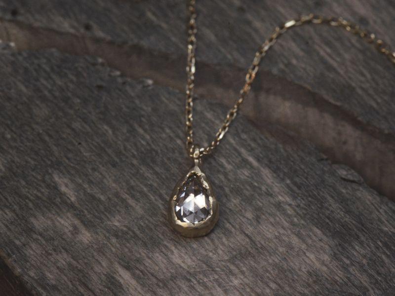 Collier Twinkle or jaune diamant par Emmanuelle Zysman