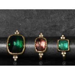 Tourmaline Diamond Queen rings by Emmanuelle Zysman