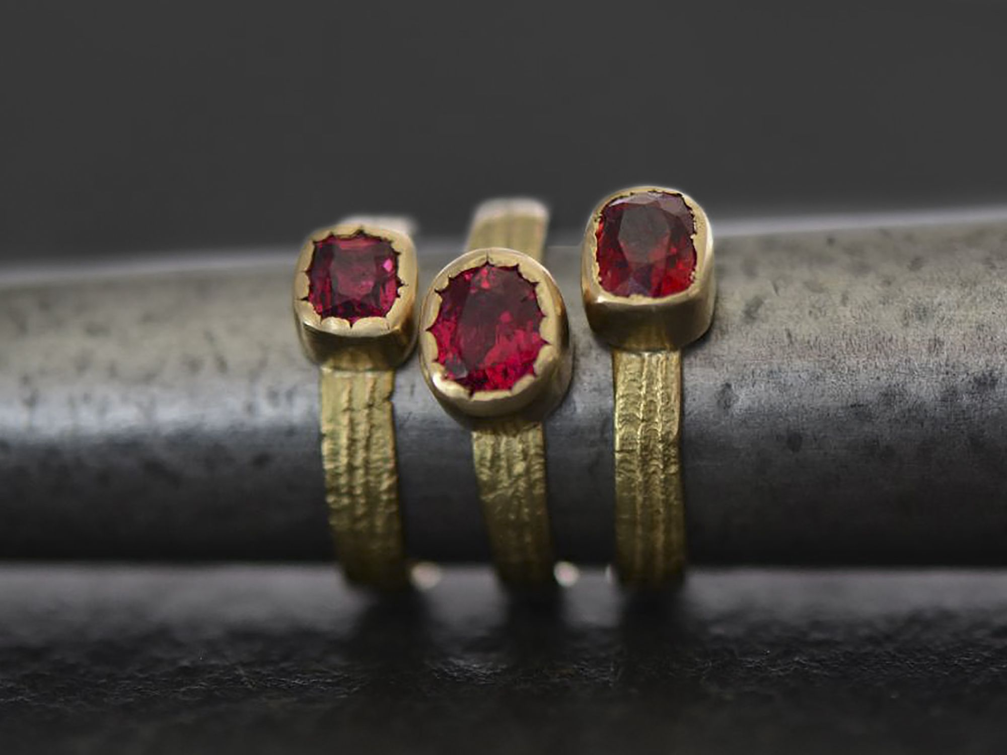 Ana Sitia large spinel ring by Emmanuelle Zysman