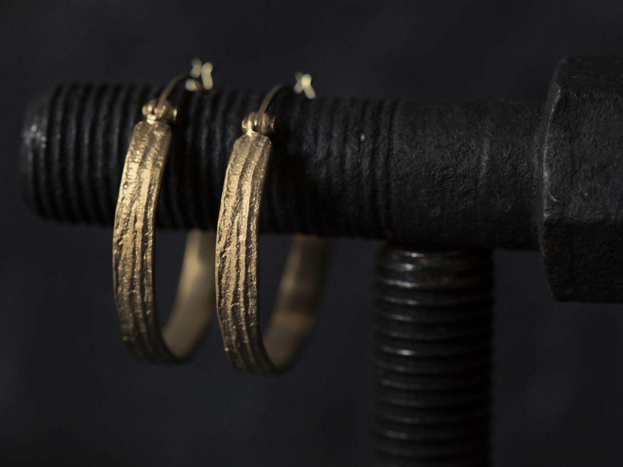 Sitia small vermeil hoop earrings by Emmanuelle Zysman