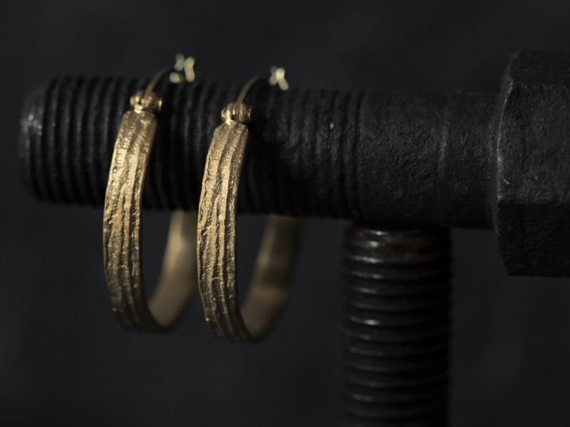 Sitia small vermeil hoop earrings by Emmanuelle Zysman