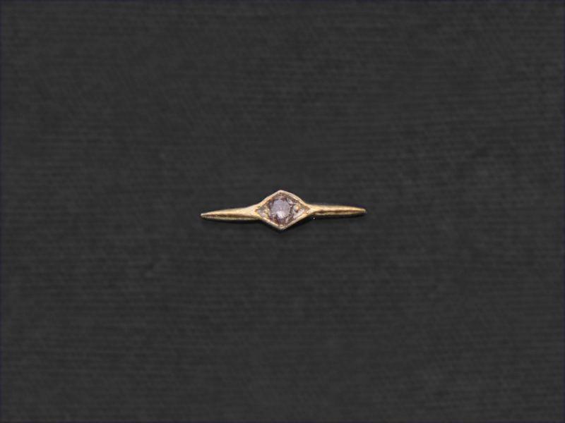 Mini-puce Comète diamant miel par Emmanuelle Zysman
