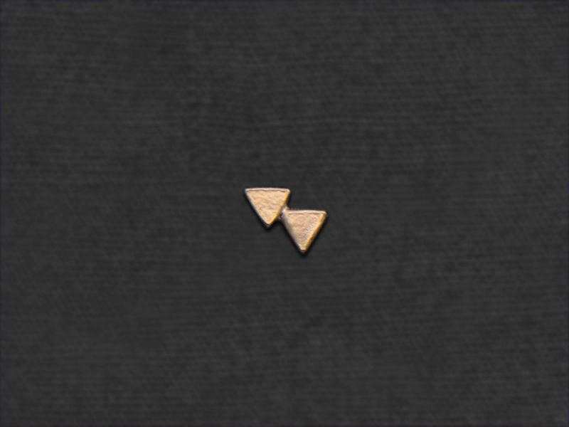 Double Triangle mini stud earring by Emmanuelle Zysman