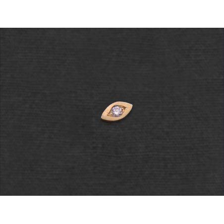 Mini Puce Oeil or jaune diamant par Emmanuelle Zysman